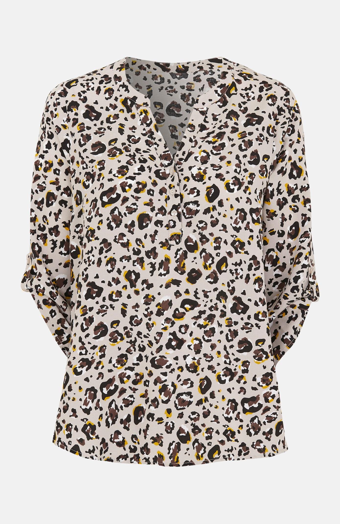 Mønstret bluse