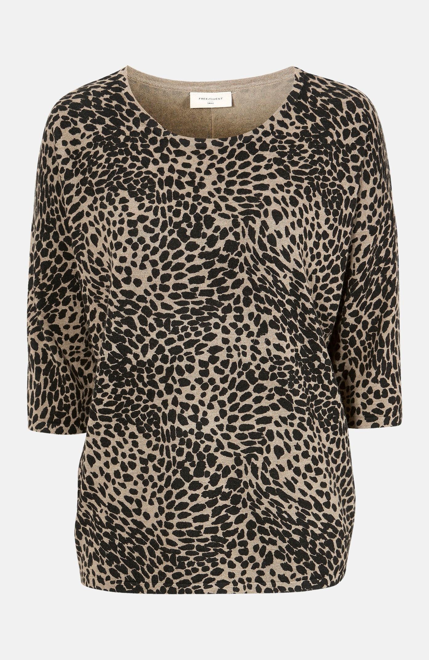 Leopardmønstret genser Jone