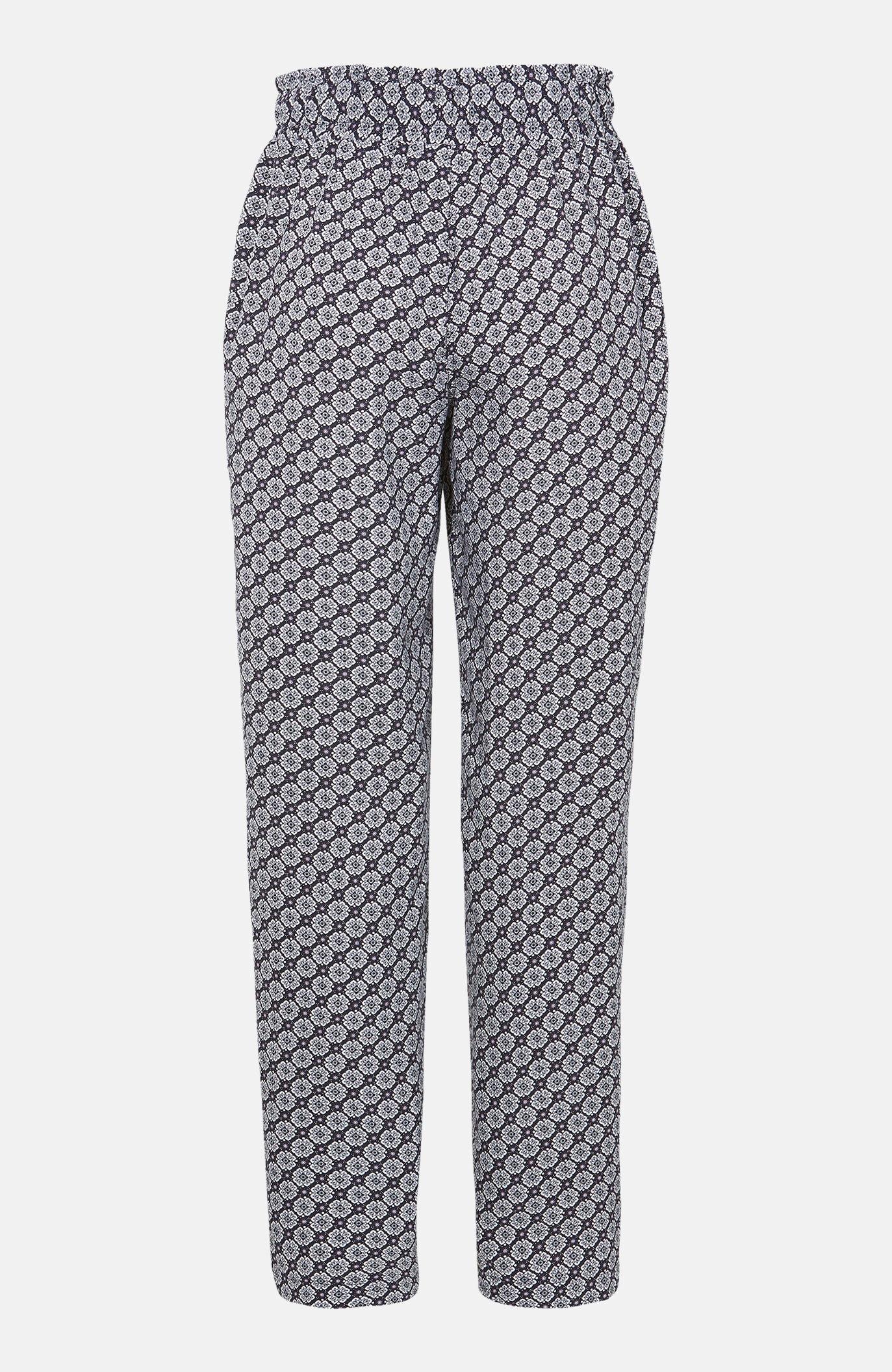 Ledig, mønstret bukse
