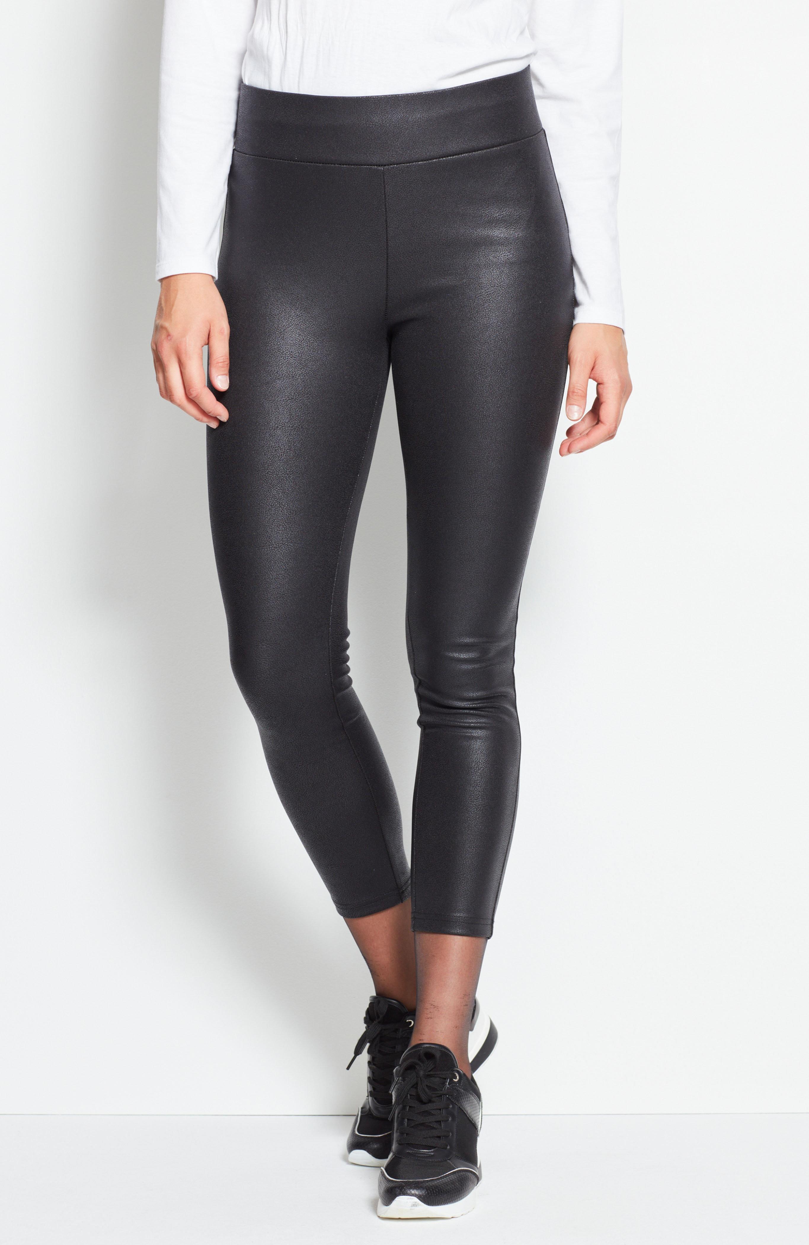 Leggings i imitert skinn