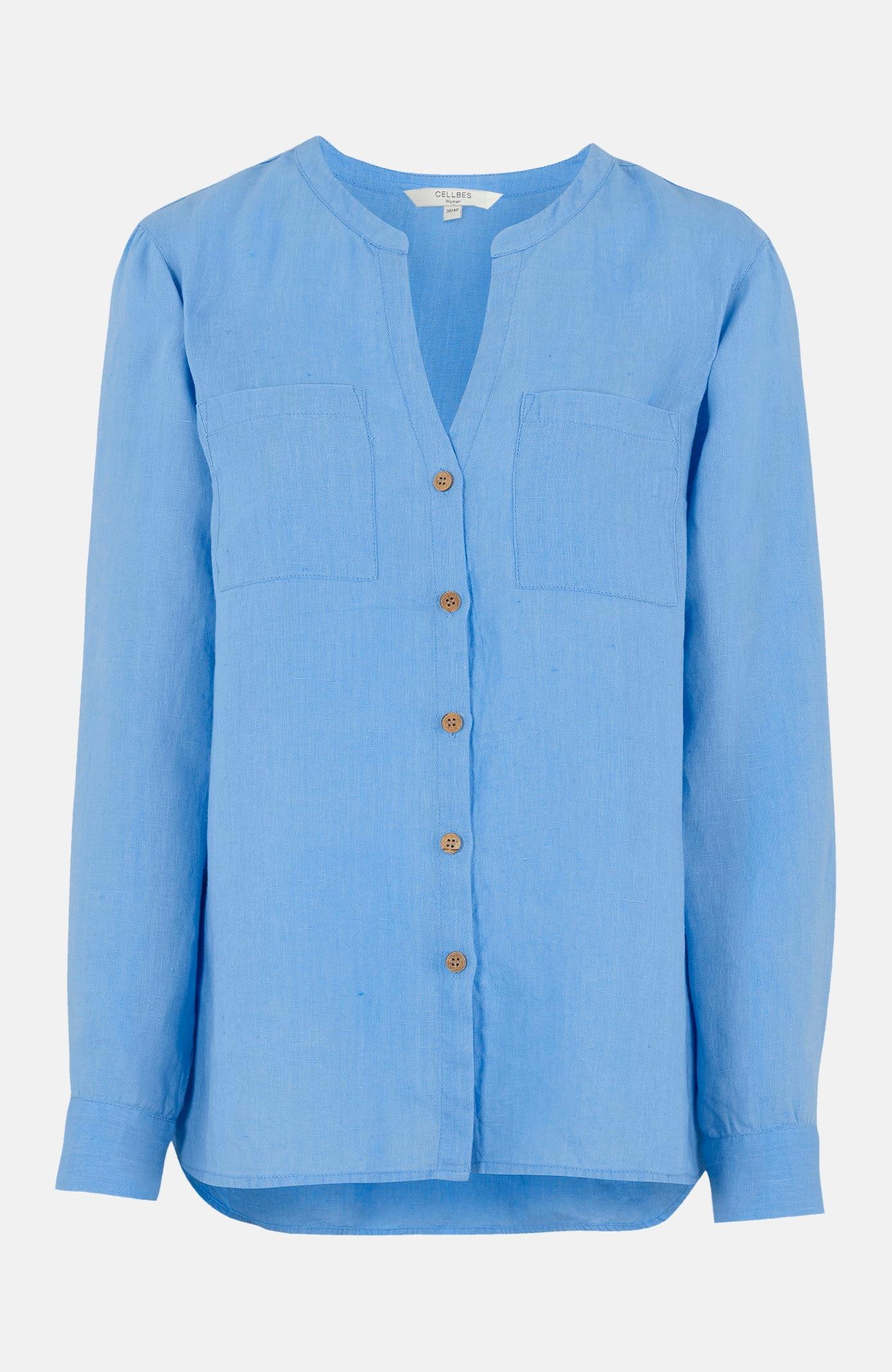 Linskjorte med treknapper