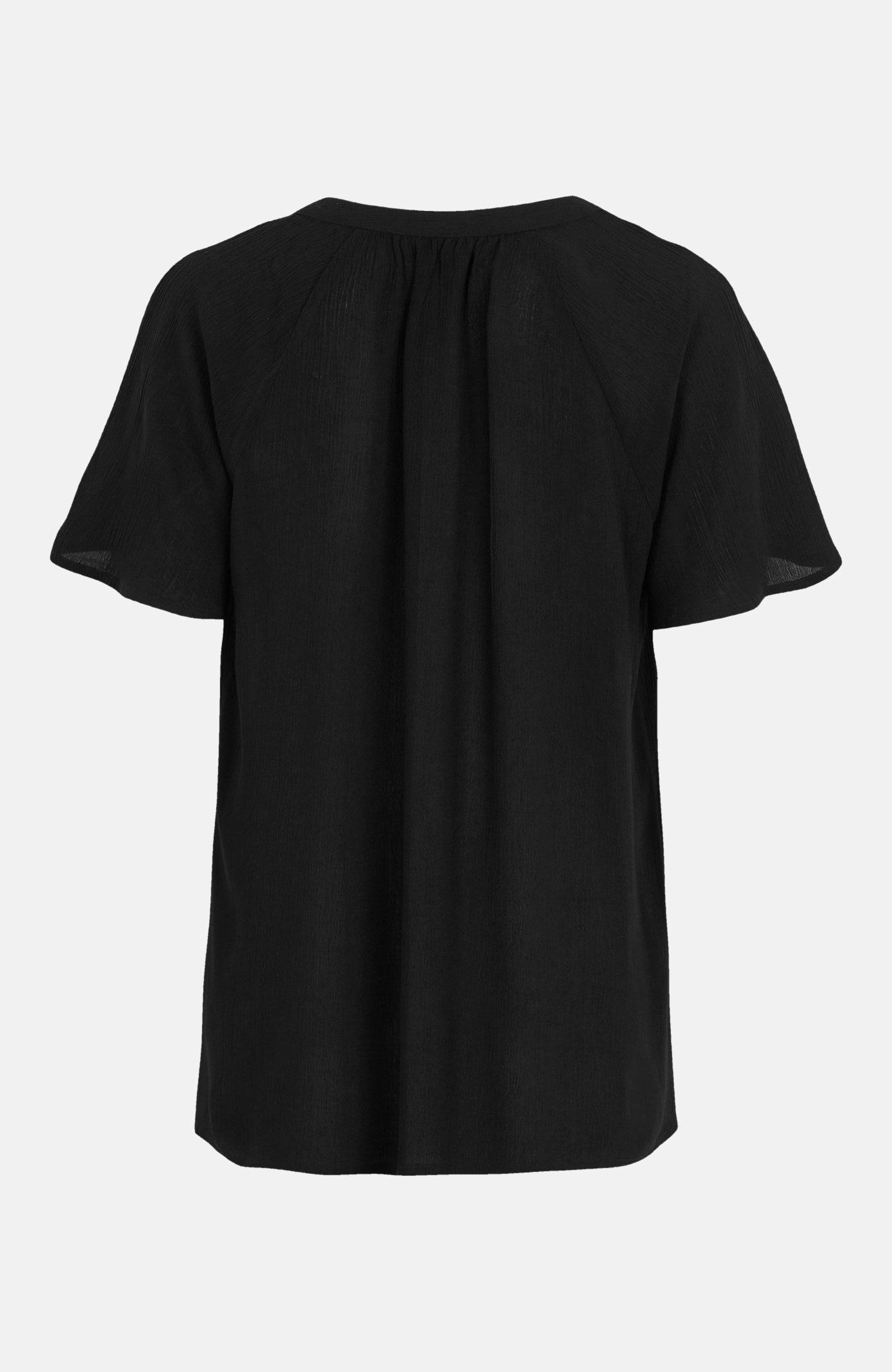 Bluse i krepp