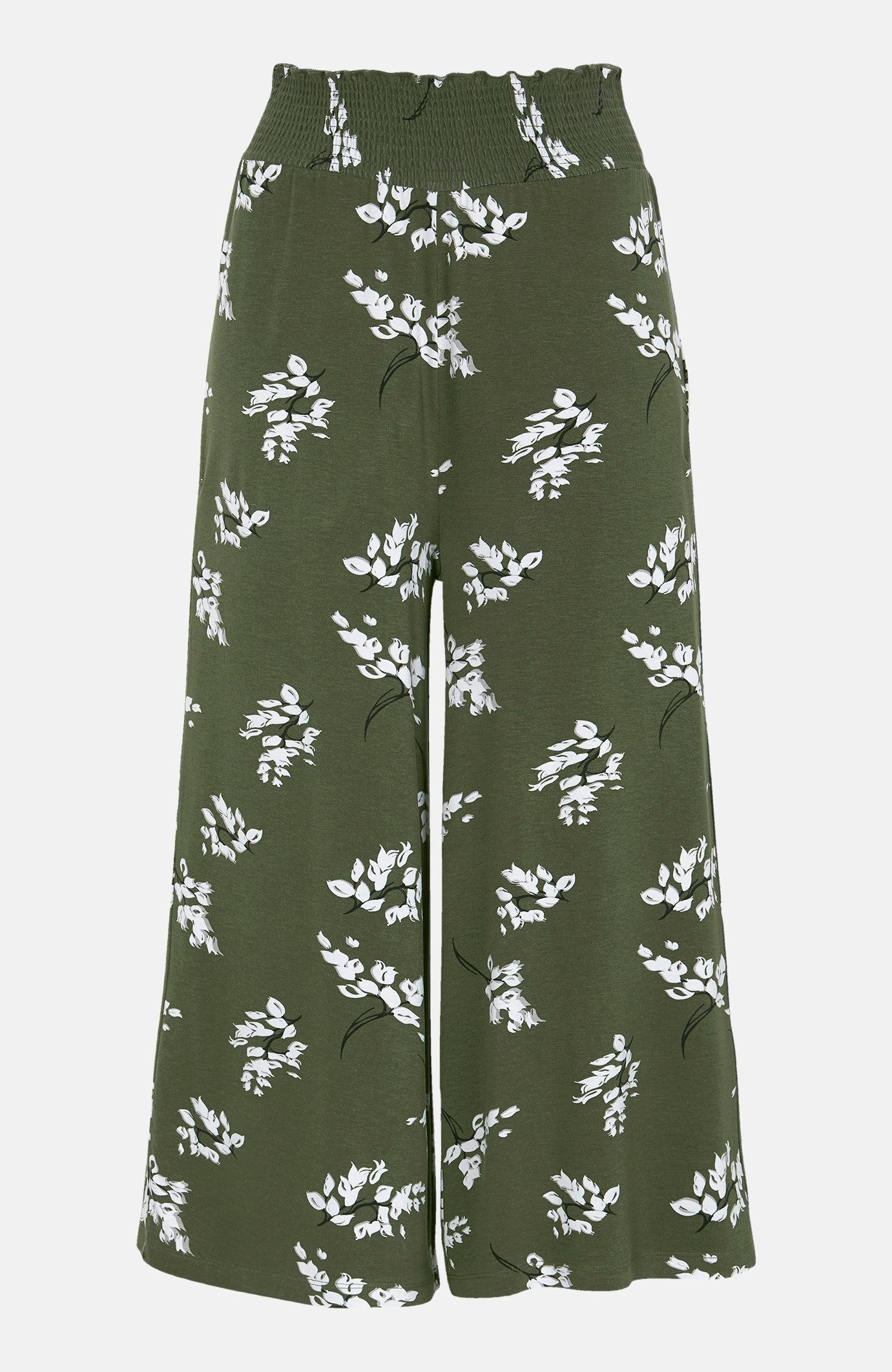 Mønstret culottebukse i trikot