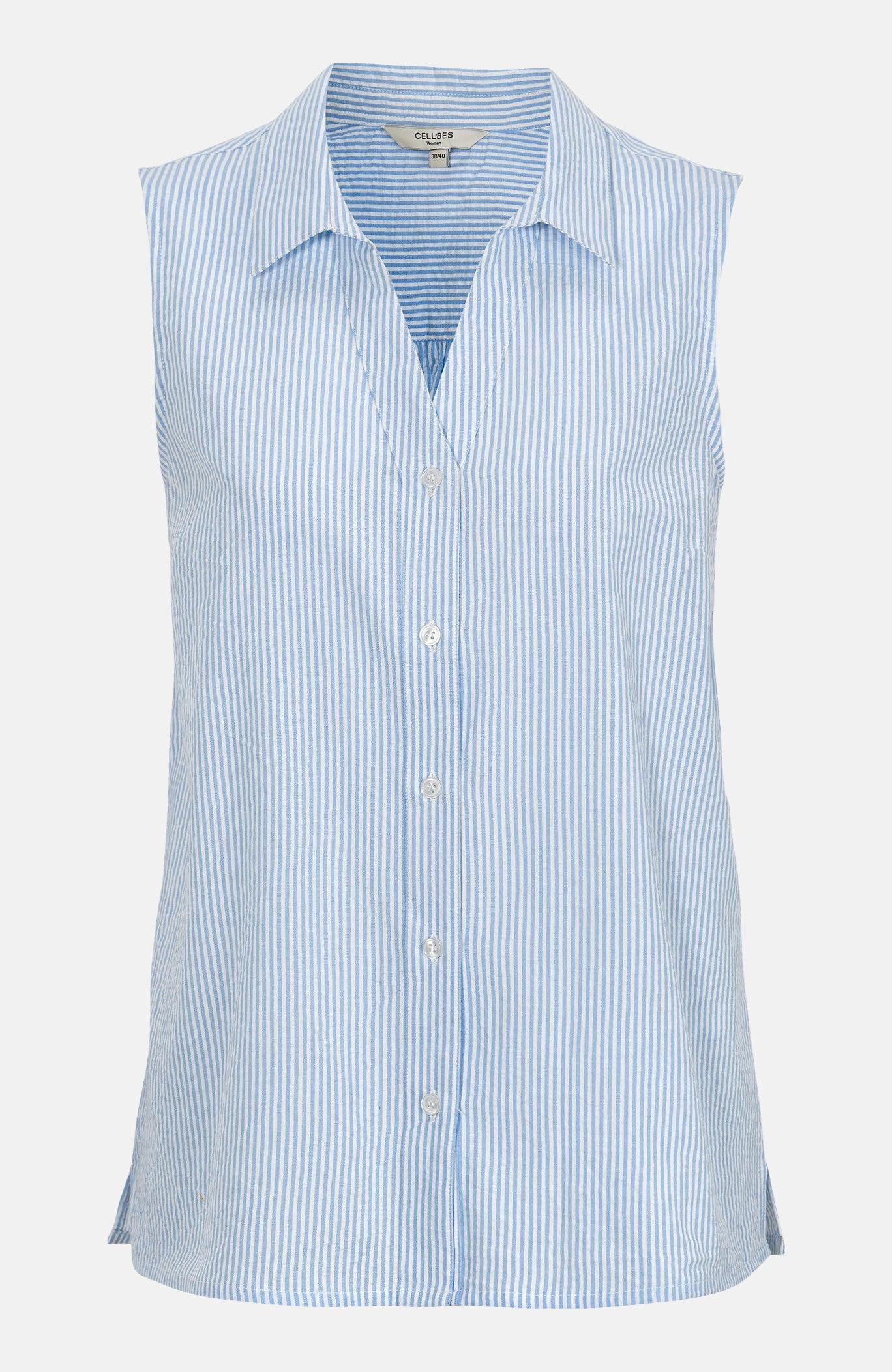 Stripete bluise i krepp