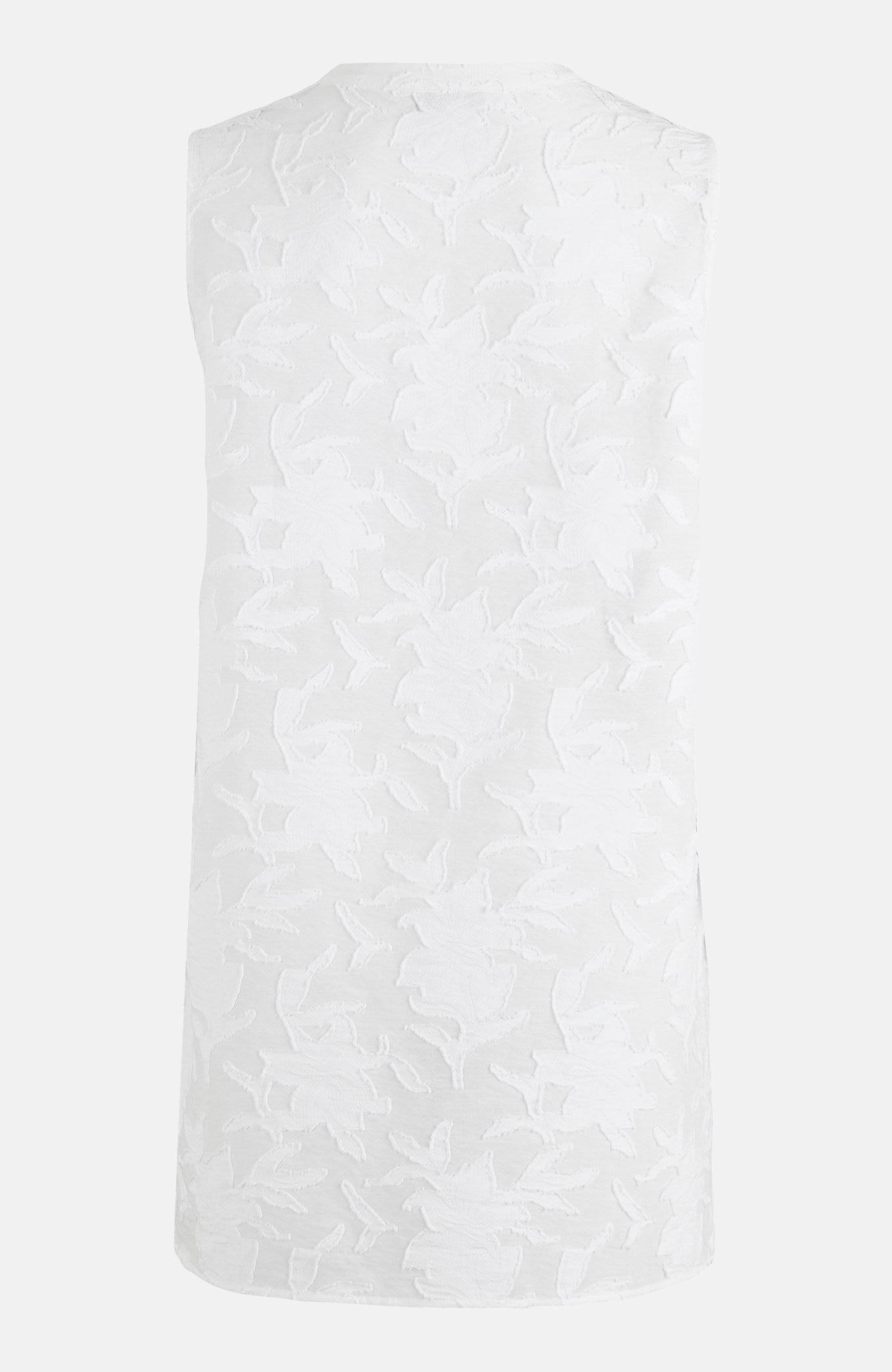Jacquardmønstret, ermeløs bluse.