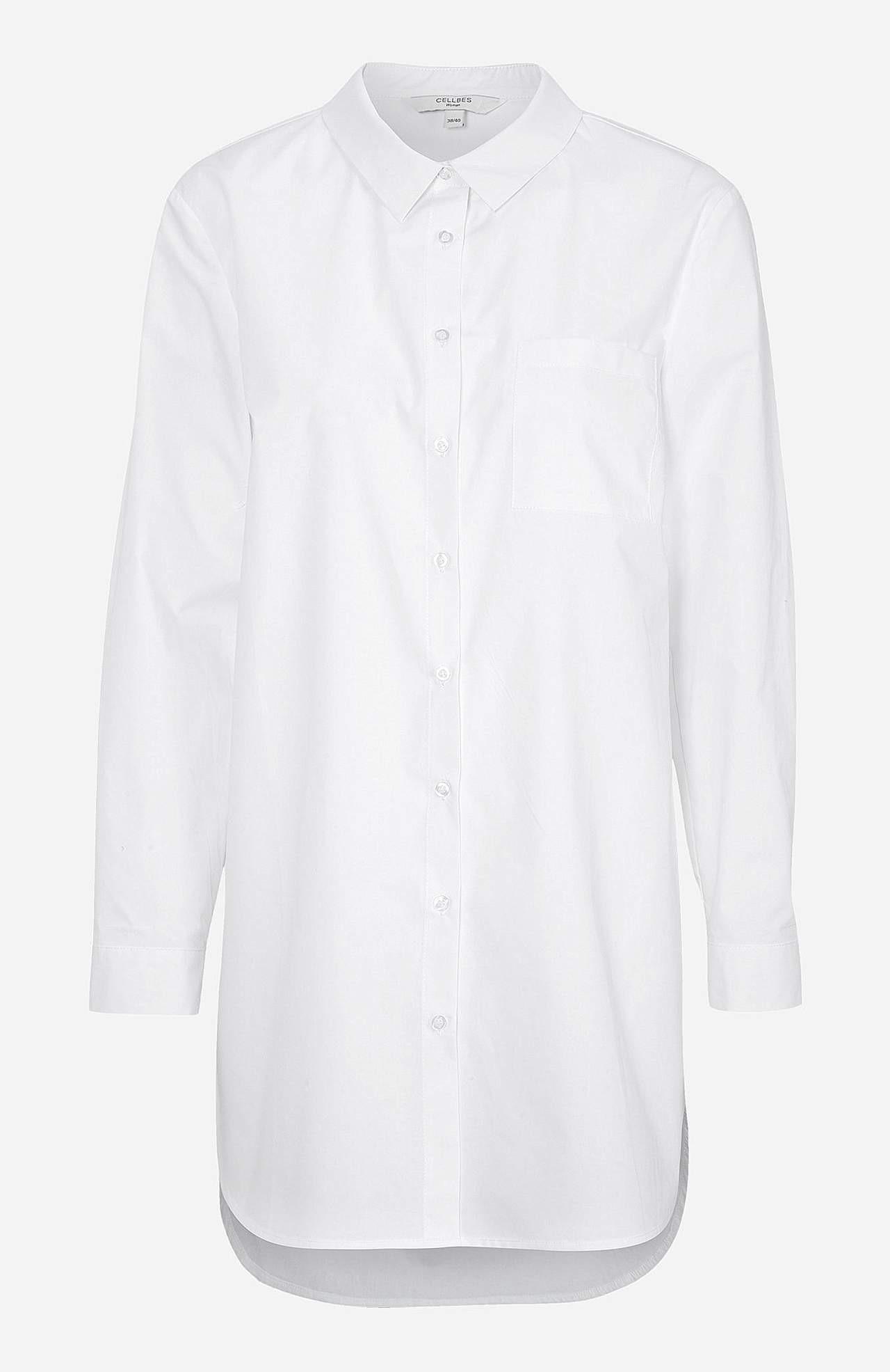 Lang skjorte i organisk bomull