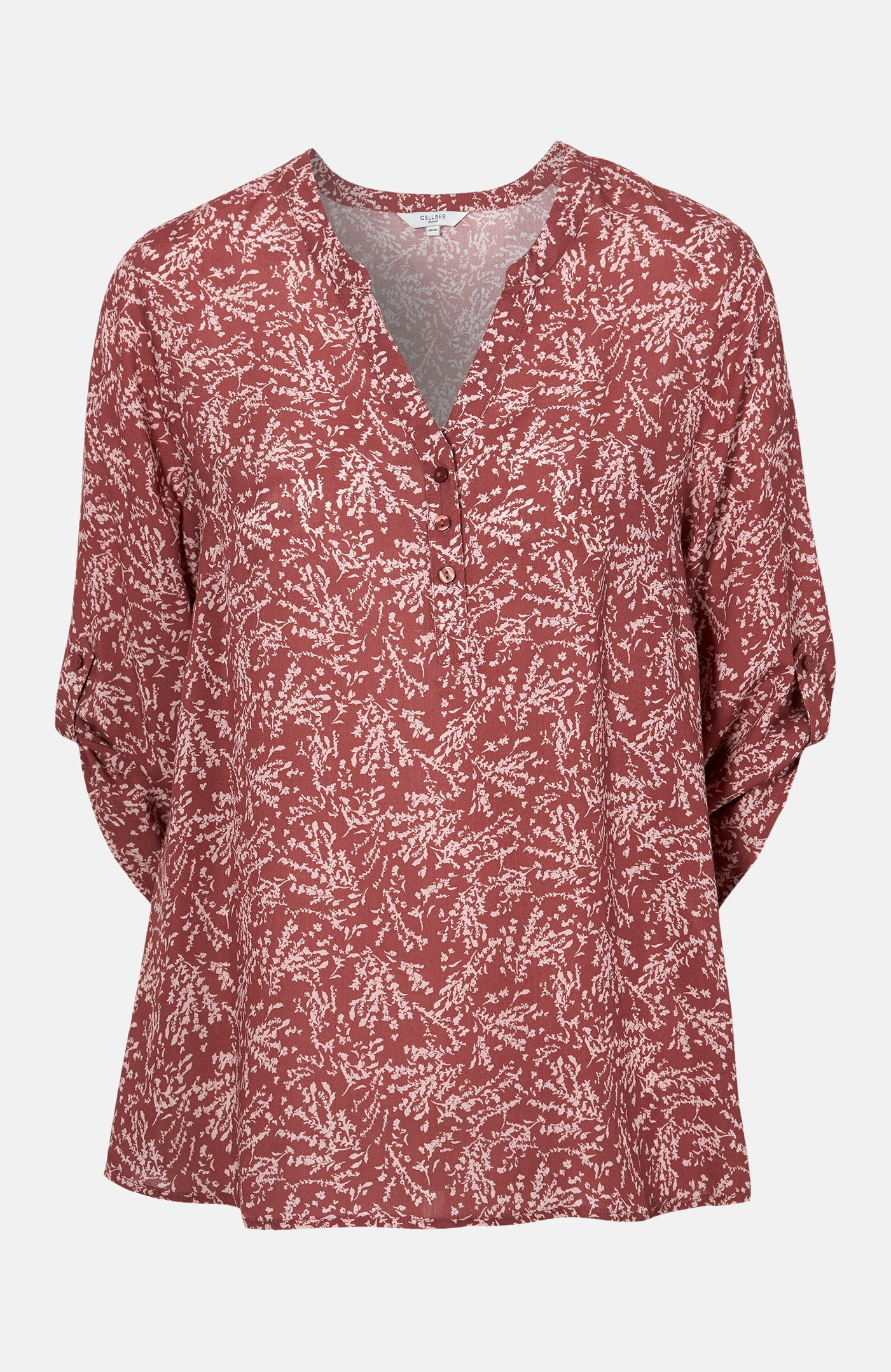 Mønstret bluse i viskose