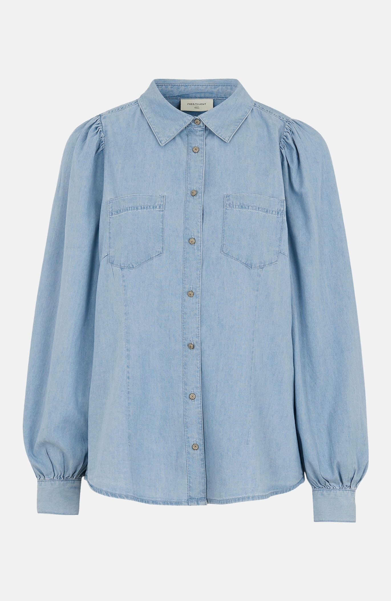 Jeansskjorte Dobby