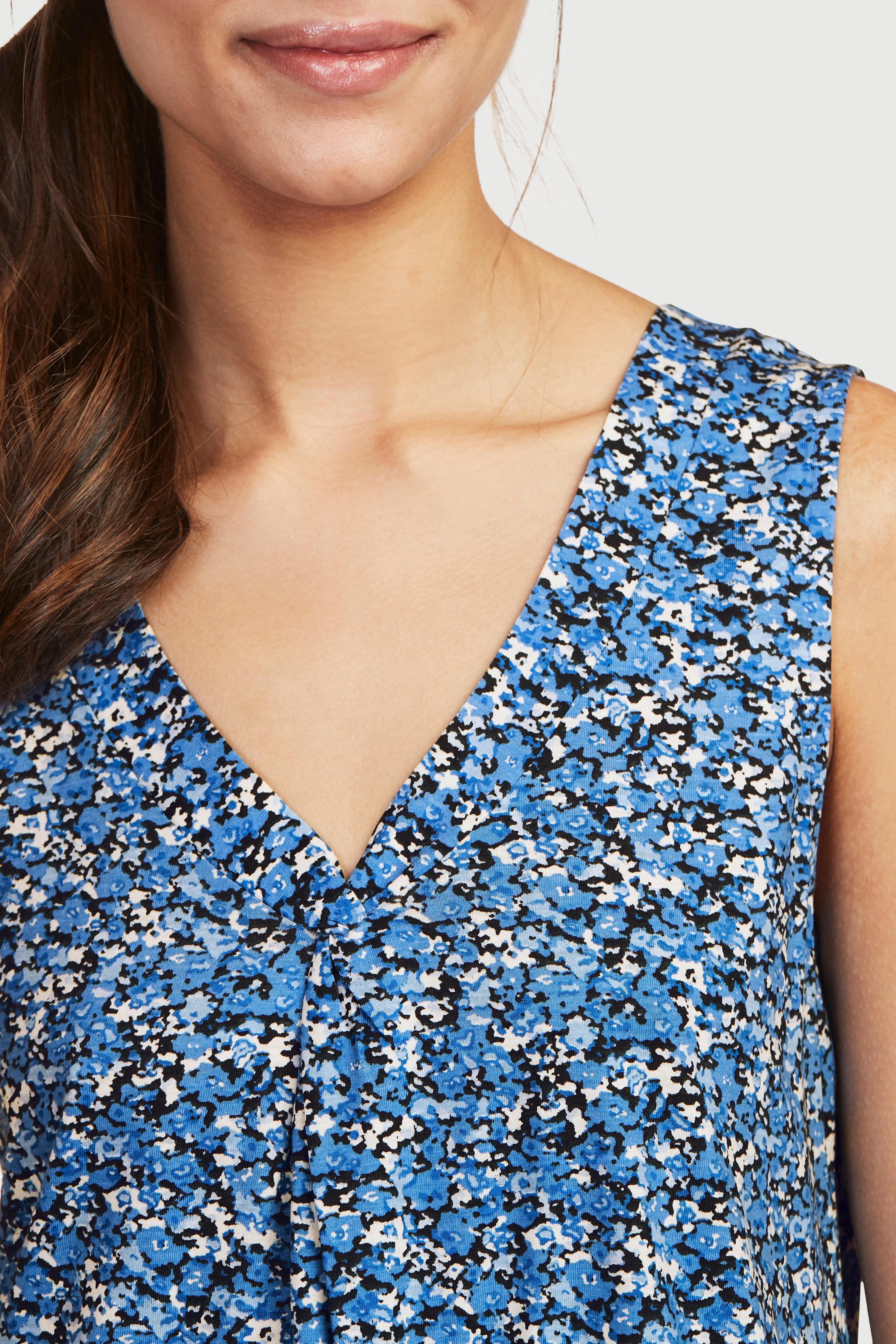 Mønstret, A-linjeformet trikotkjole