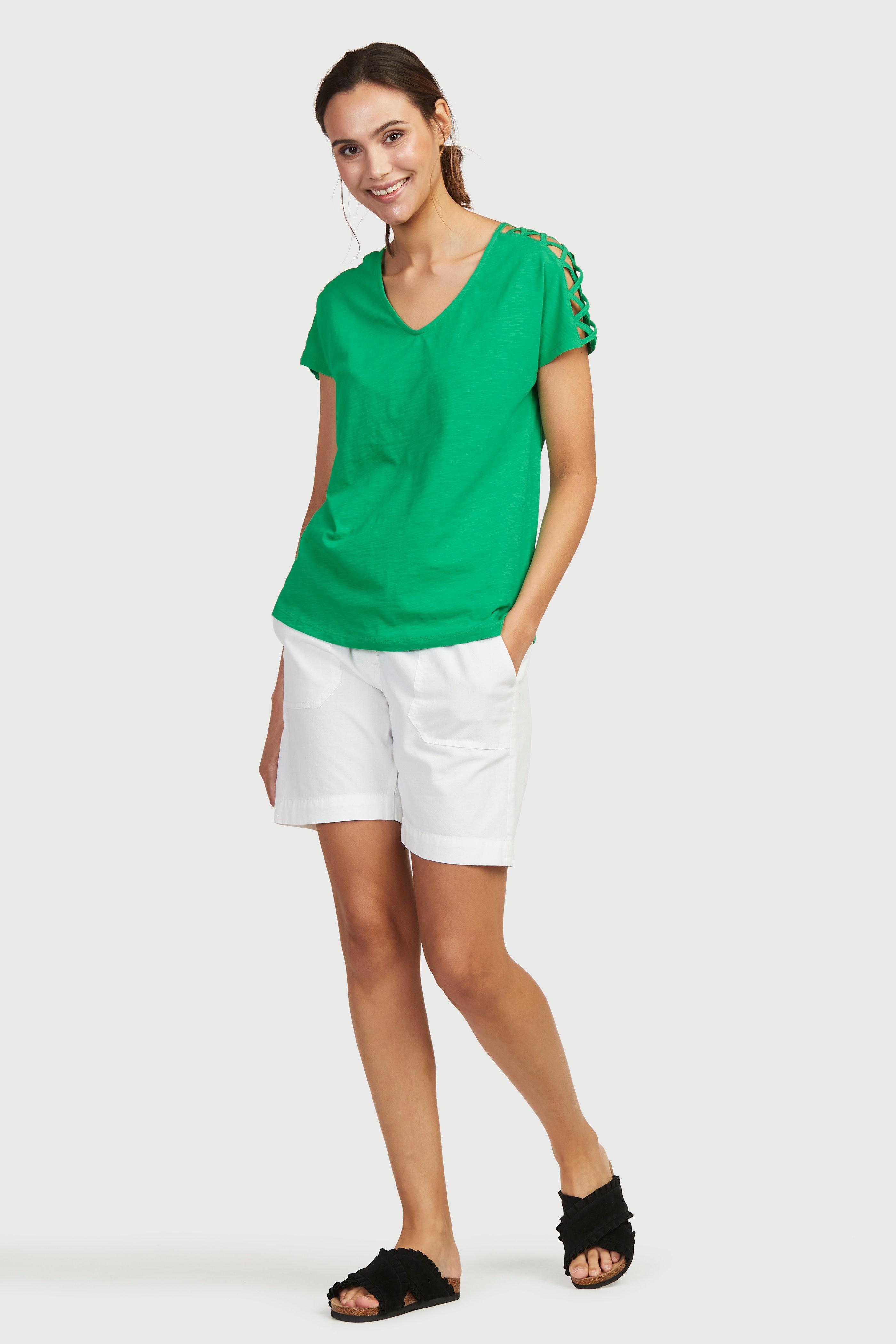 Shorts med strikklinning