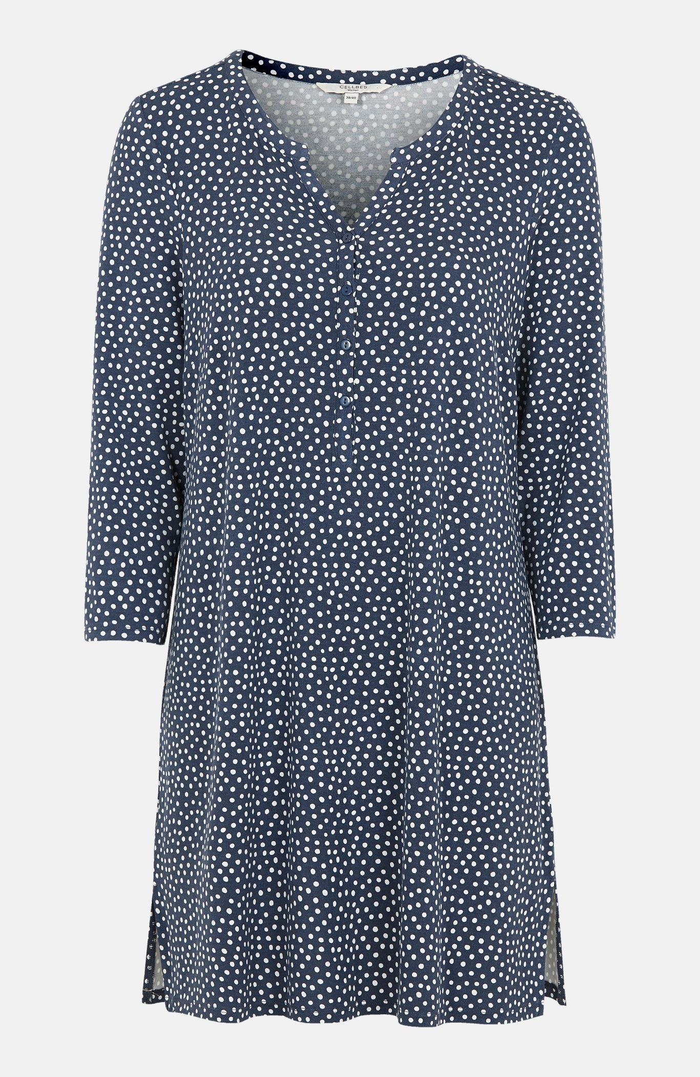 Mønstret tunika i trikot.