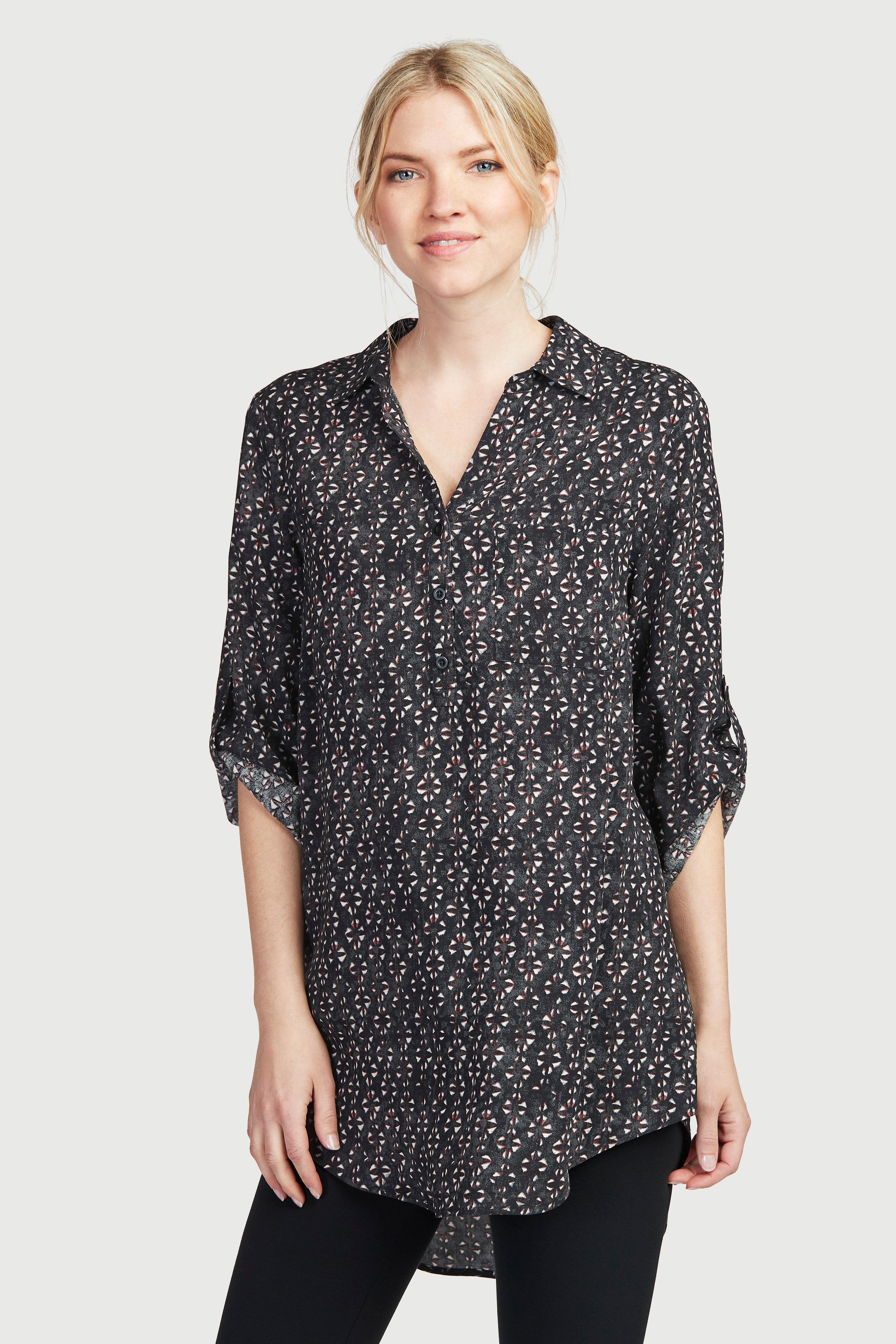 Tunika med skjortekrage
