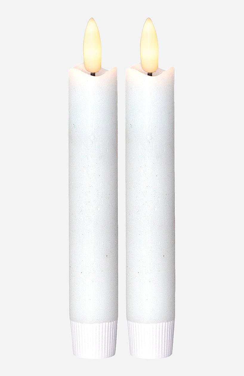 LED antikklys kort Flamme 2-pack