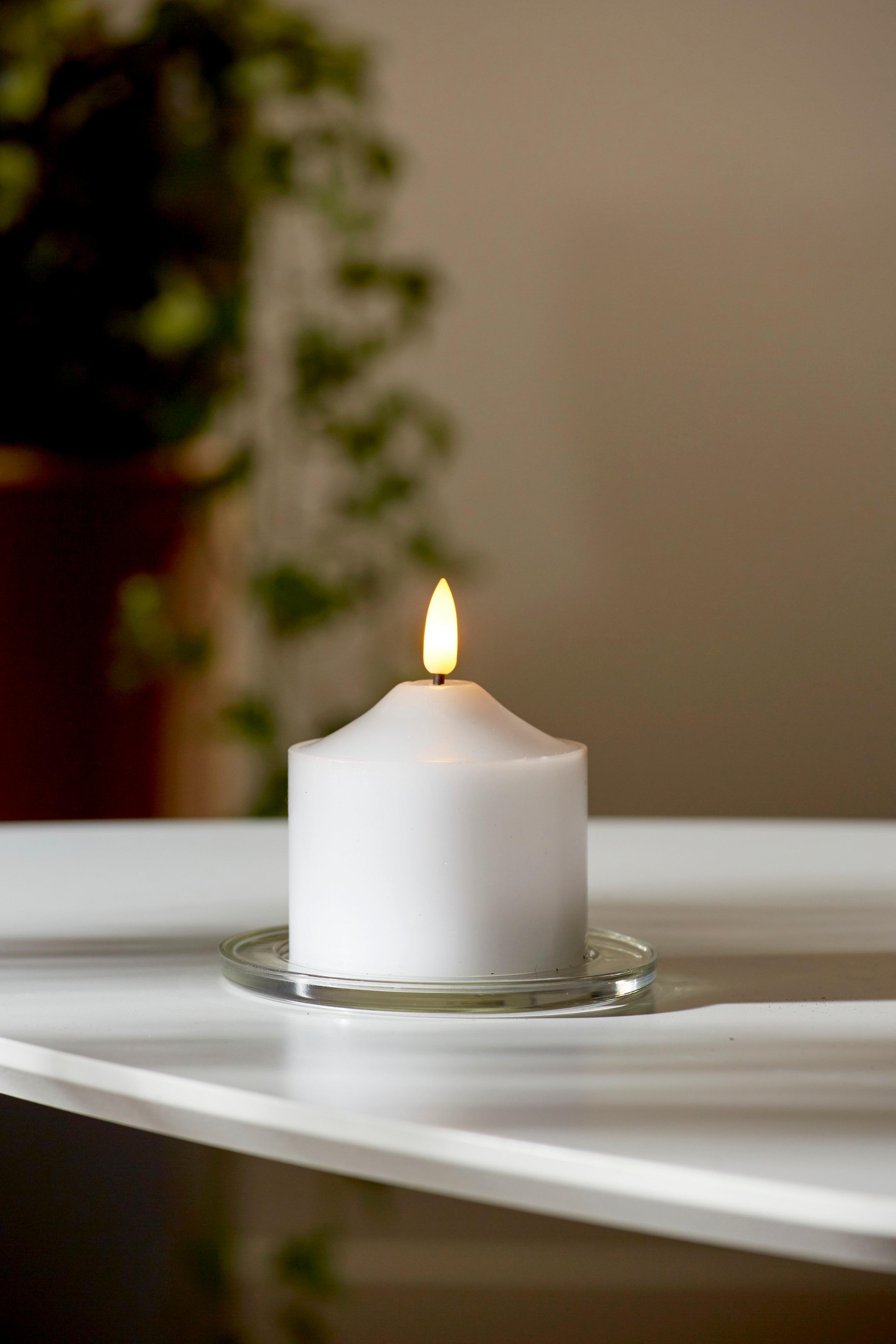 LED kubbelys 7 cm Flamme