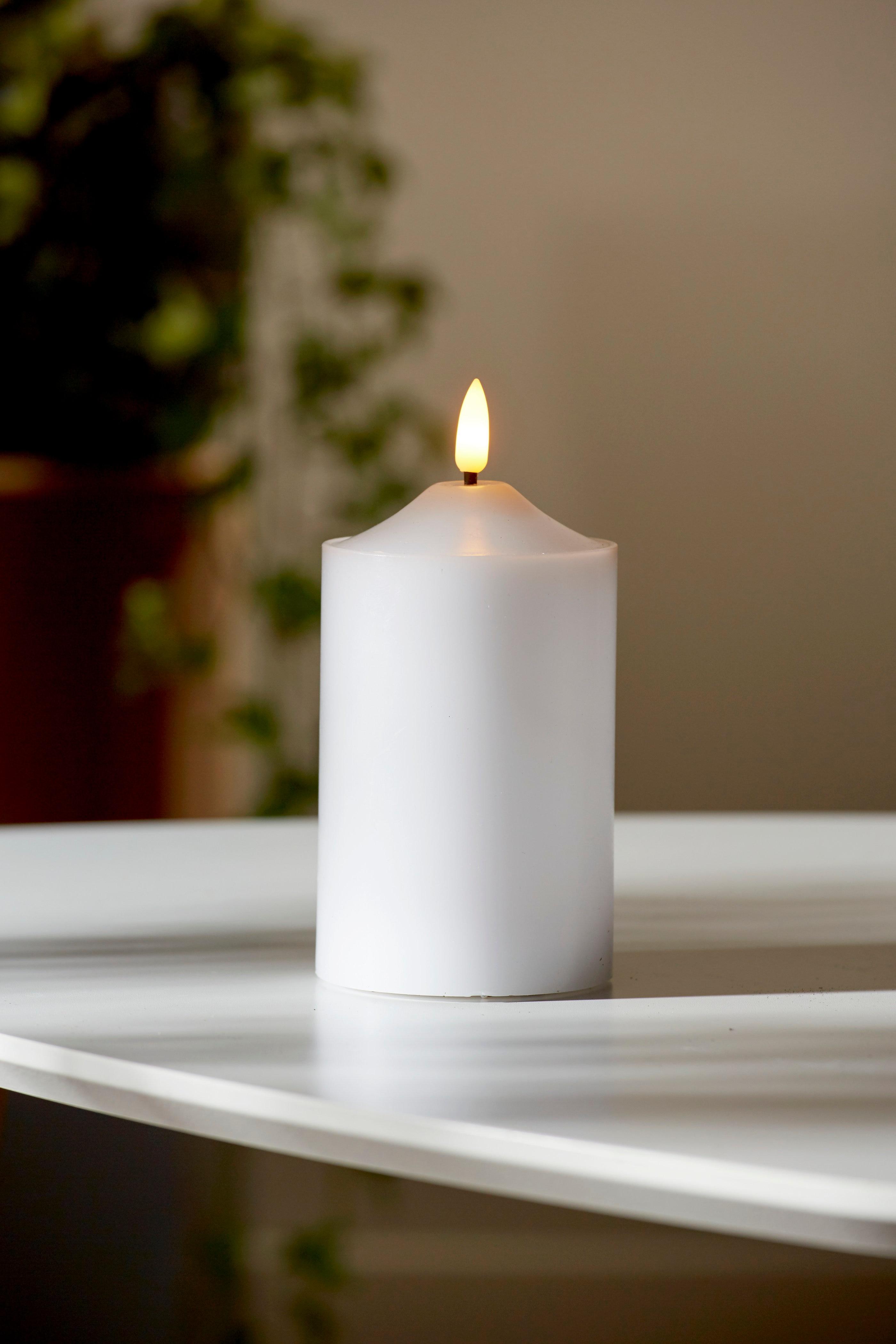 LED kubbelys 12,5 cm Flamme