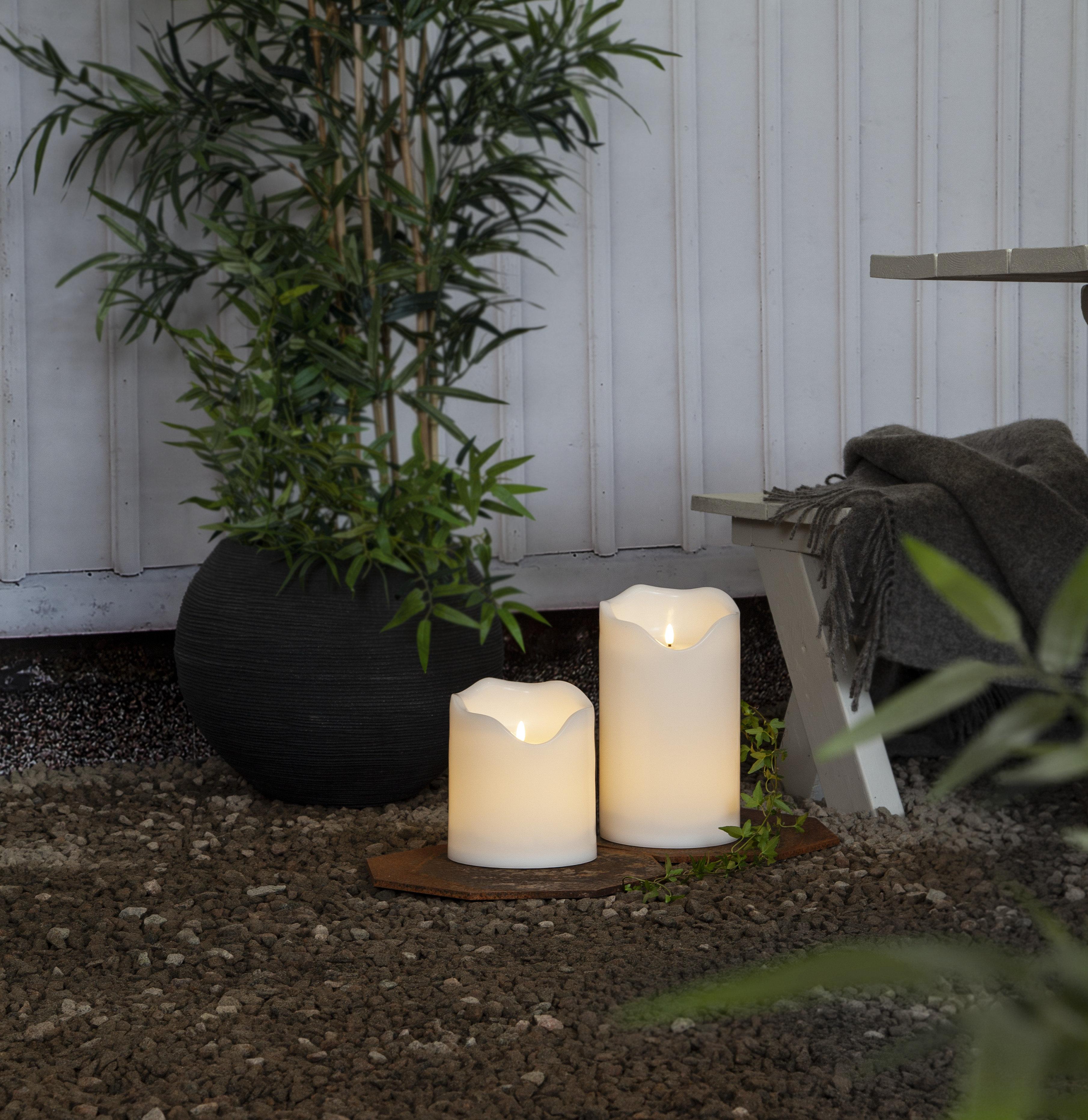 LED kubbelys 30 cm Flamme
