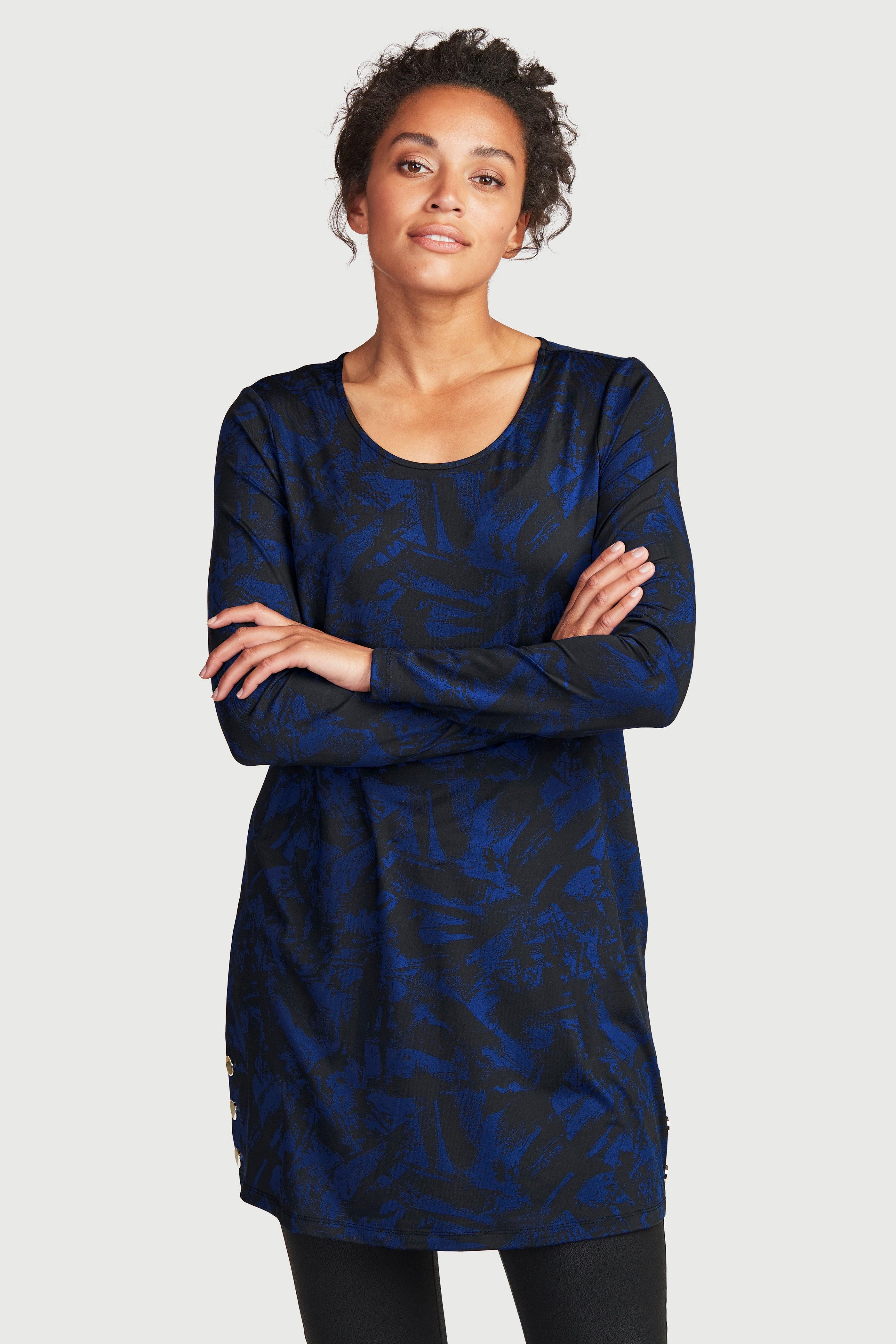Mønstret tunika i jevn jersey