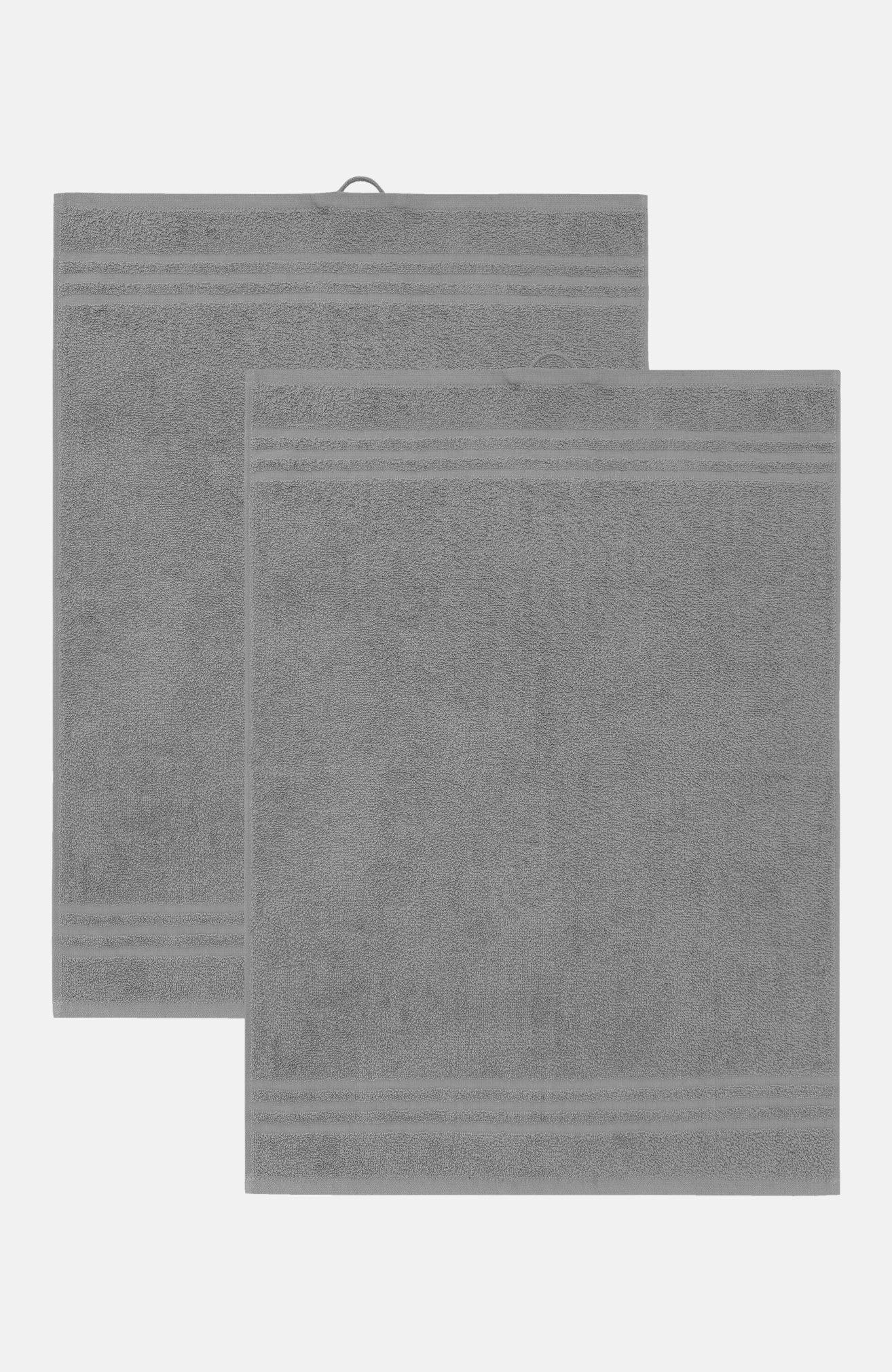 Ensfarget frottéhåndkle 50x70 cm Basic 50x70 cm 2-pack