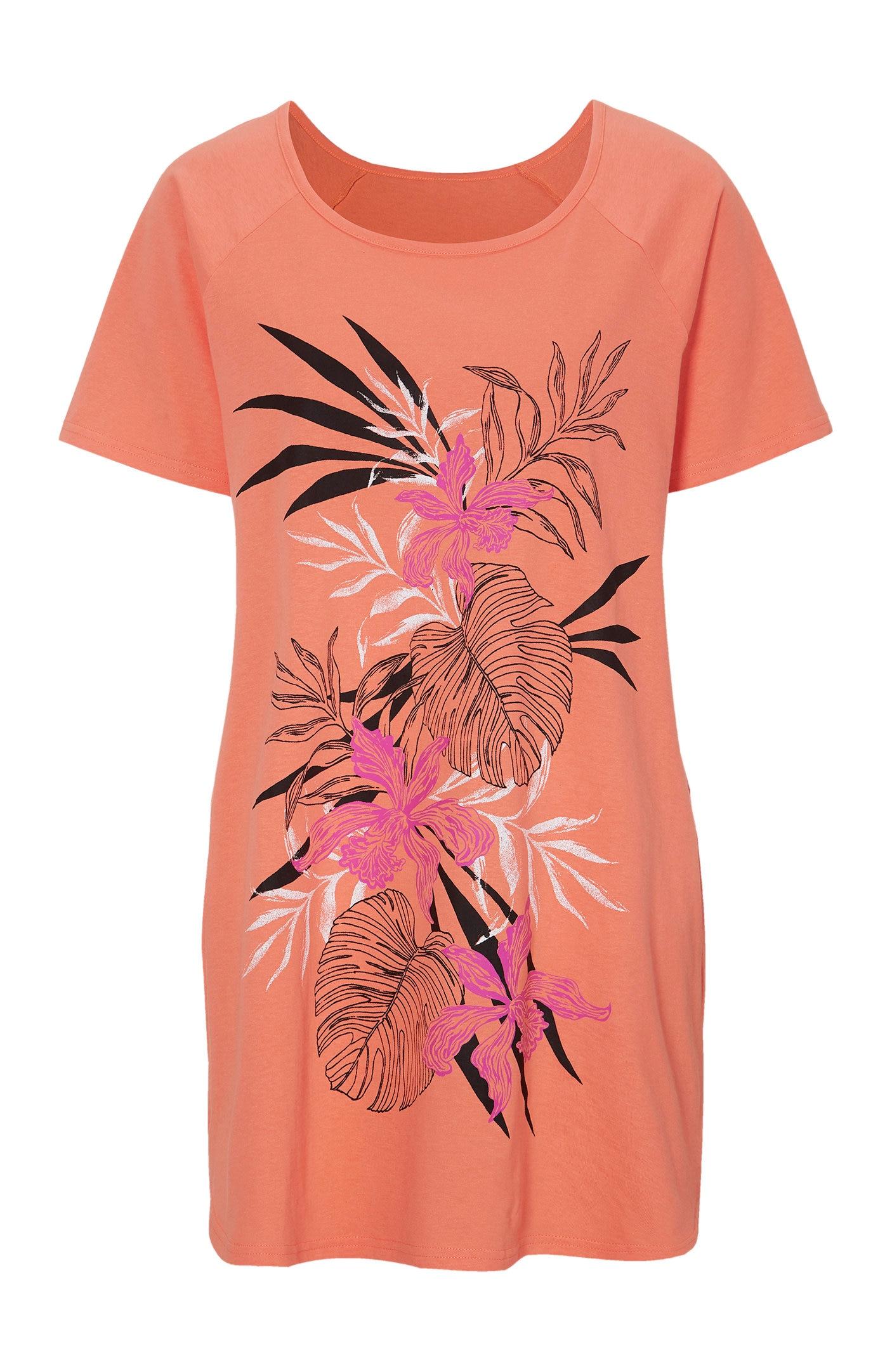 Jerseytunika med blomstermønster 2-pack