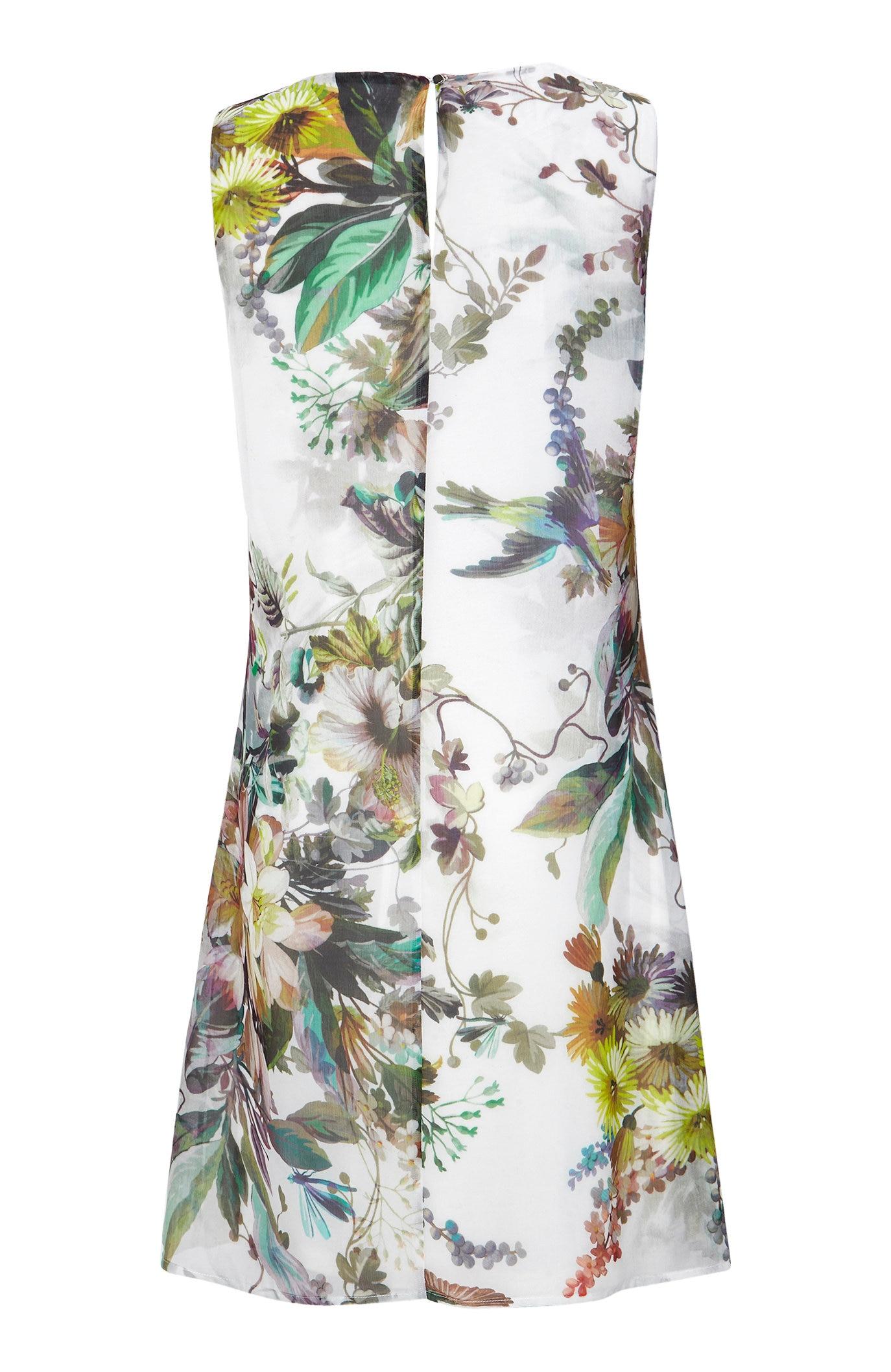 Festfin kjole med blomstermønster