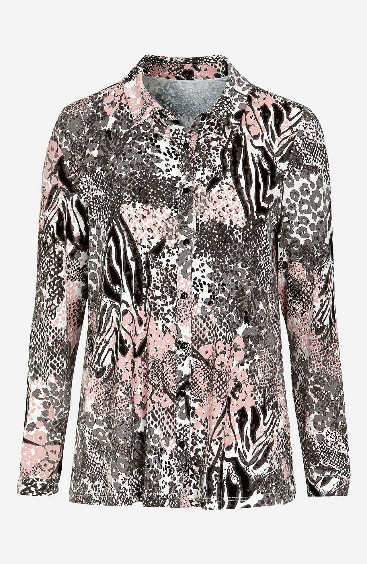 Mønstret, A-linjeformet skjorte