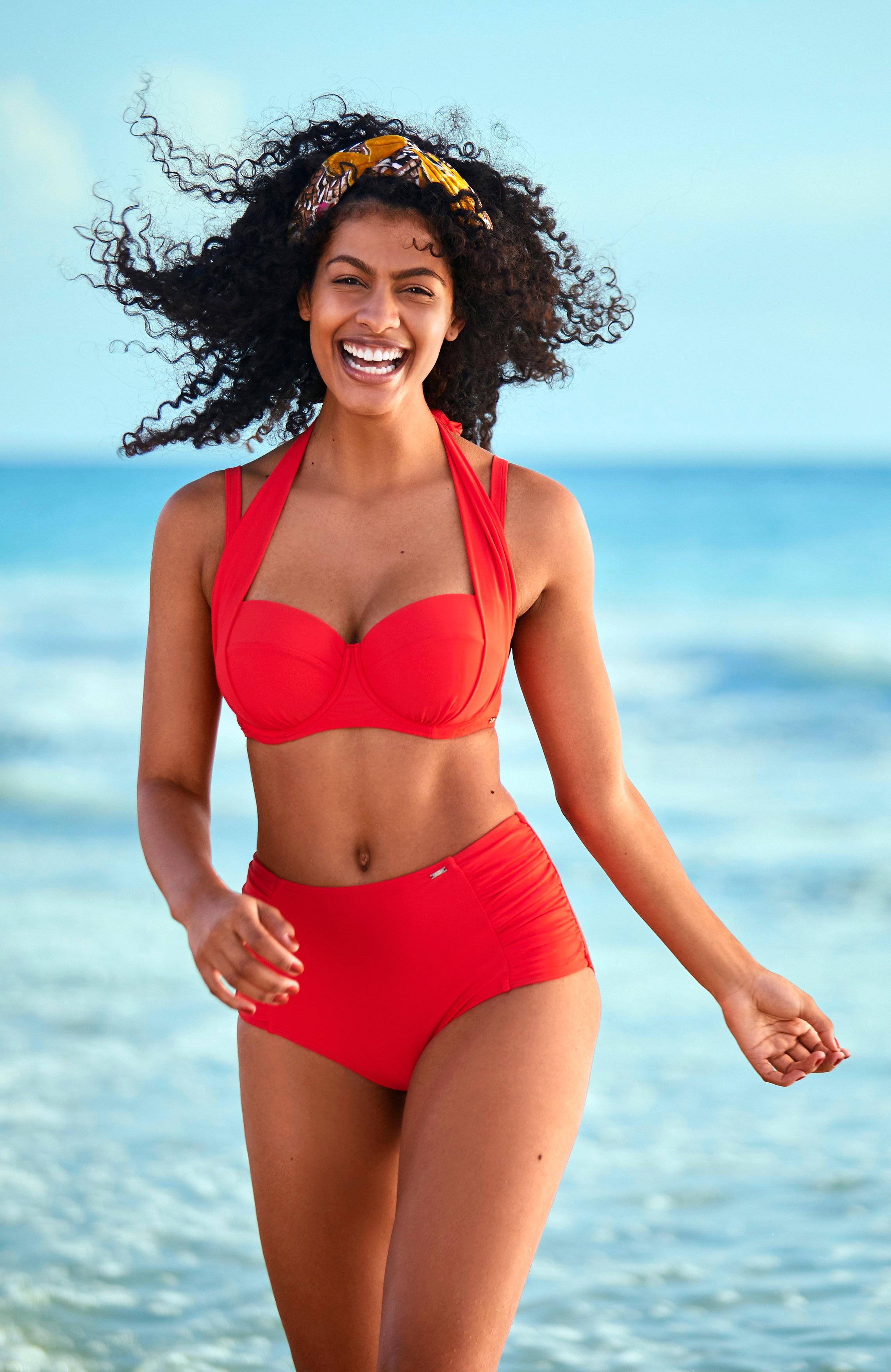 Rød bikini-bh multifunksjon