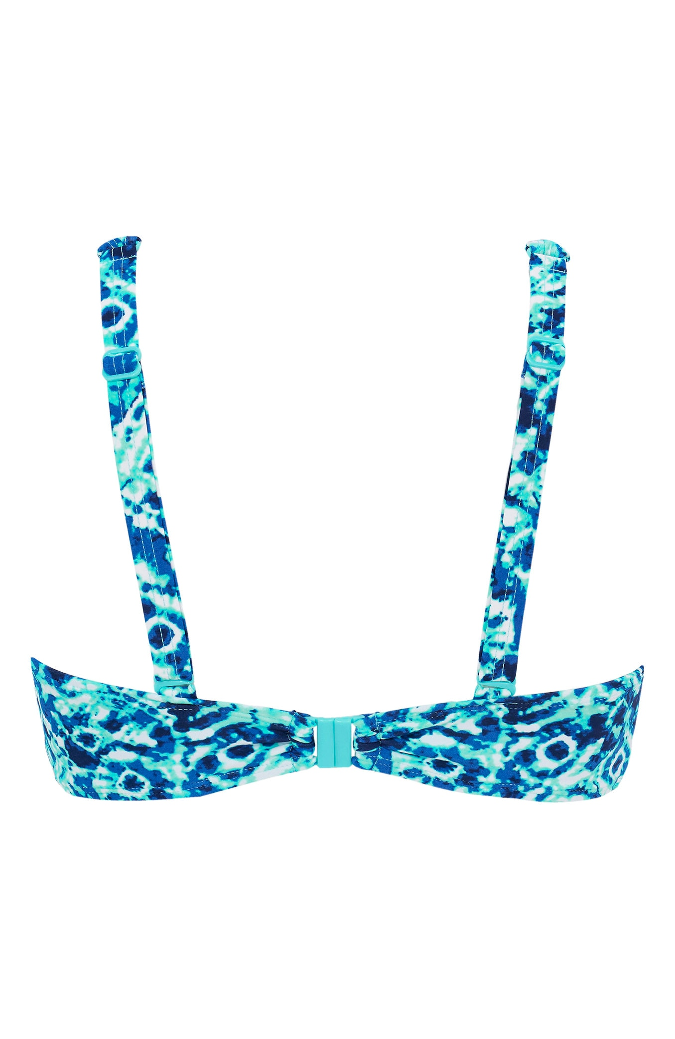 Blåmønstret bikini-bh uten bøyle