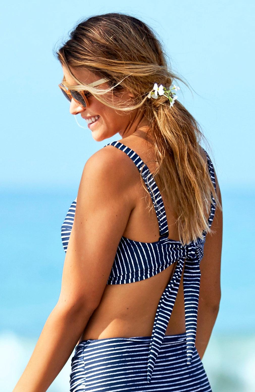 Stripete bikini-bh multifunksjon