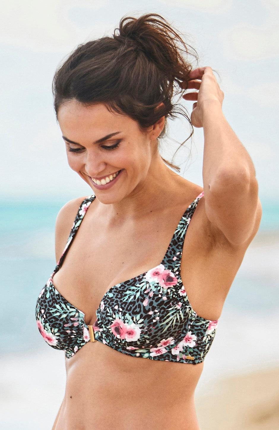 Bikini-bh med bøyle som lukkes foran