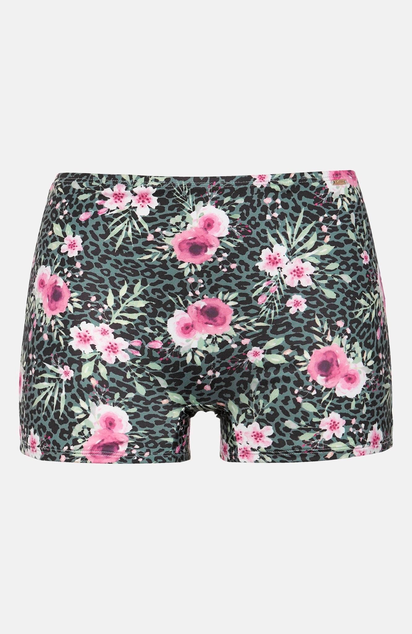Blomstrete bikinitruse bokser