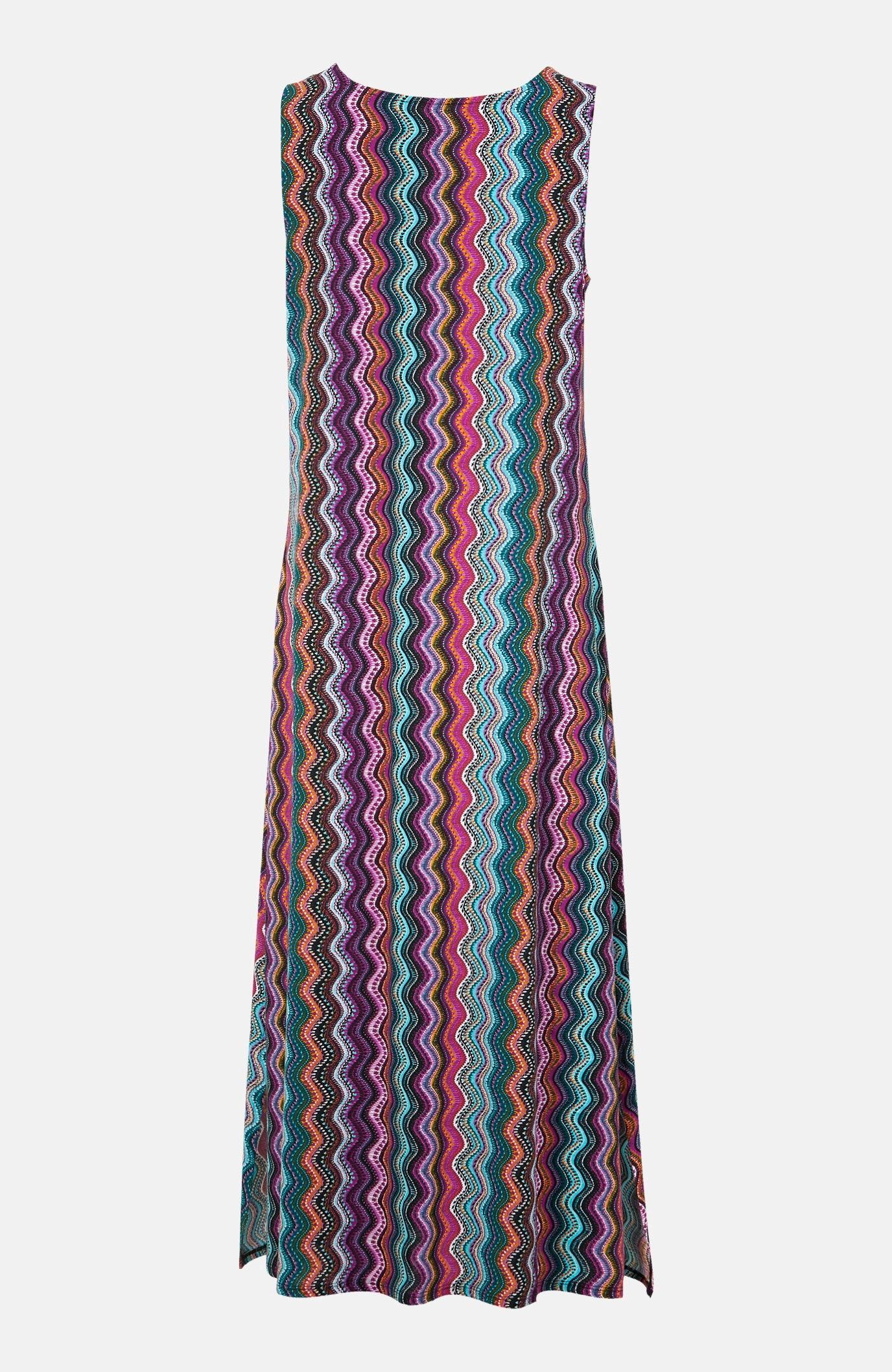 Mønstret trikotkjole
